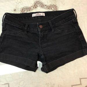 Hollister Black denim shorts jeans low rise
